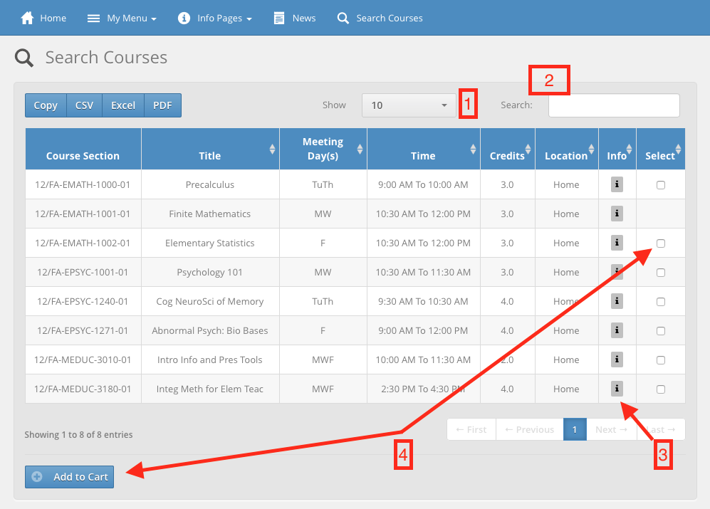 search-courses